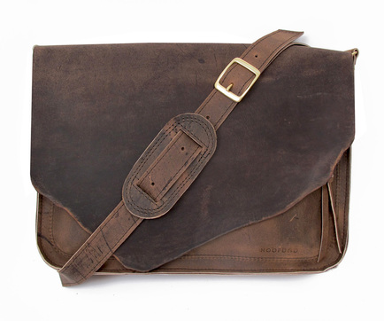 dumaine leather messenger bag