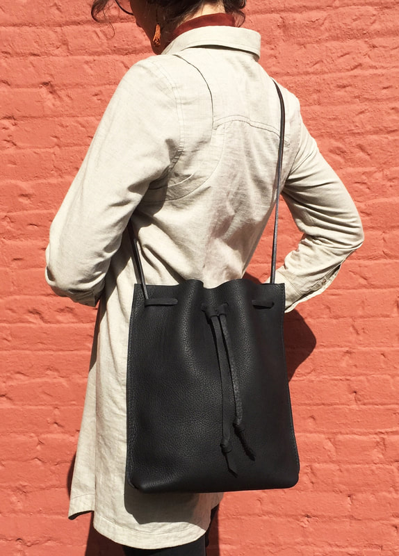 Portland Handmade Leather bucket bag